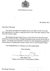 Letter from the Queen
