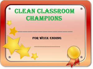 Clean Classroom Champions cert