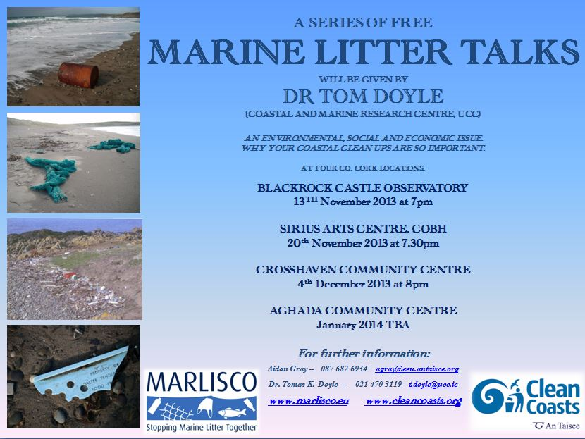 Marine Litter Talks - Co Cork locations